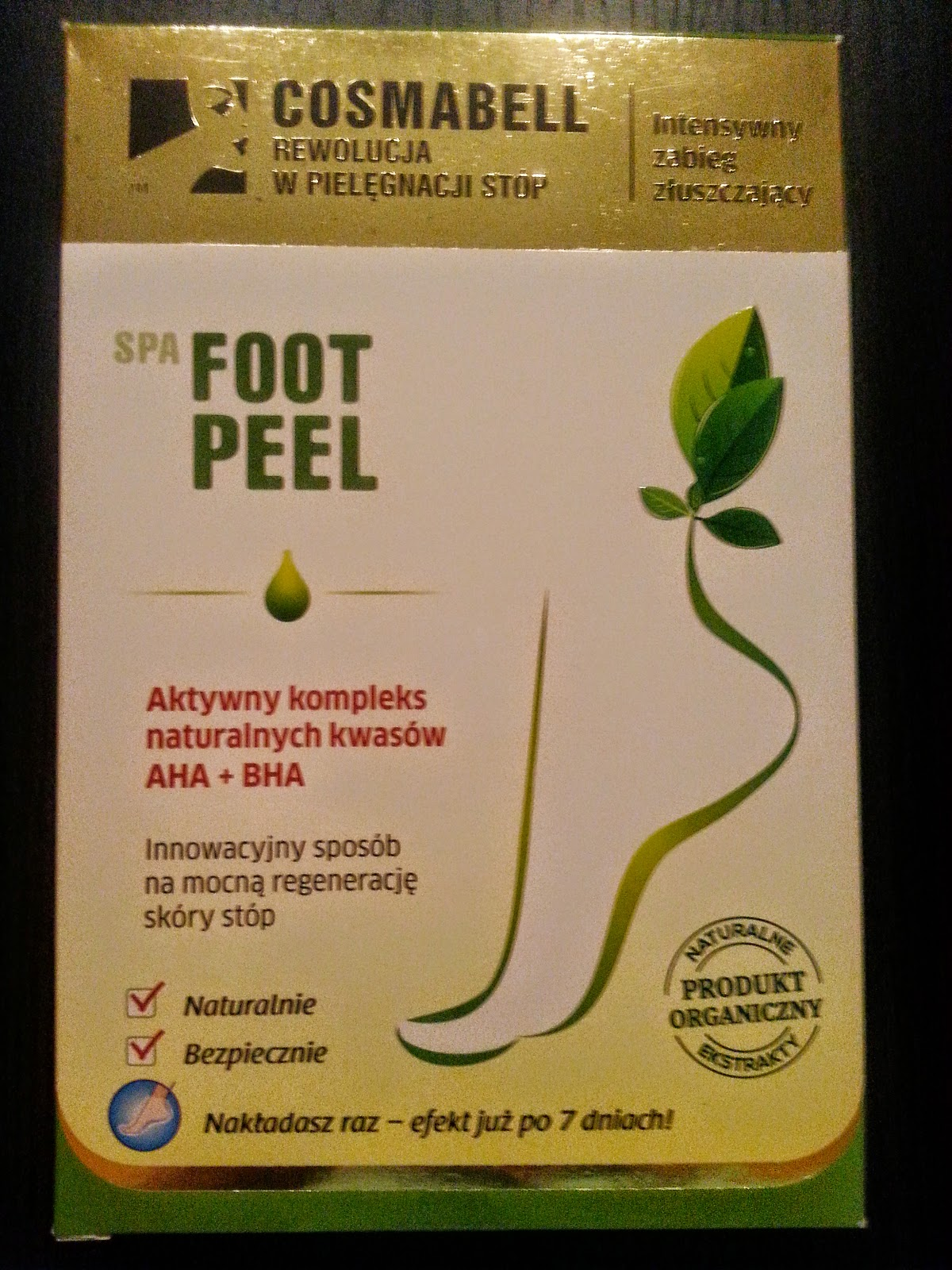 SPA FOOT PEEL marki COSMABELL, czyli skarpetki peelingujące