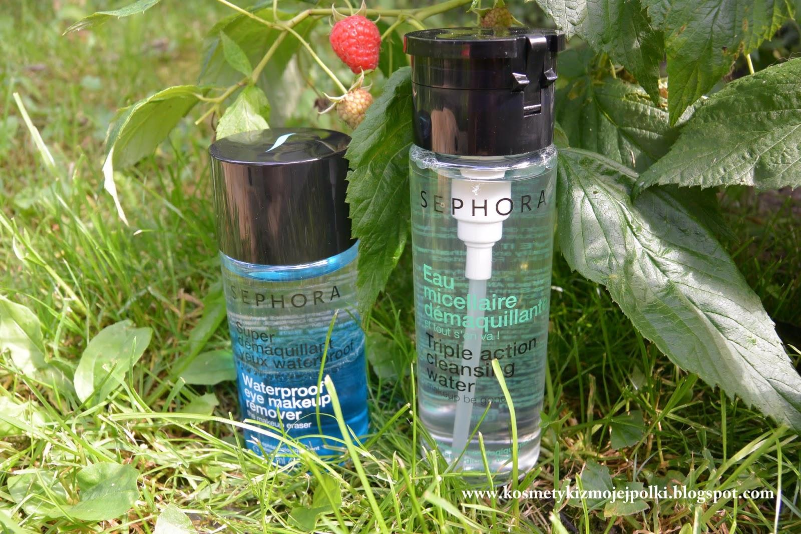 Demakijaż od SEPHORA – Triple action cleansing water & Waterproof eye makeup remover