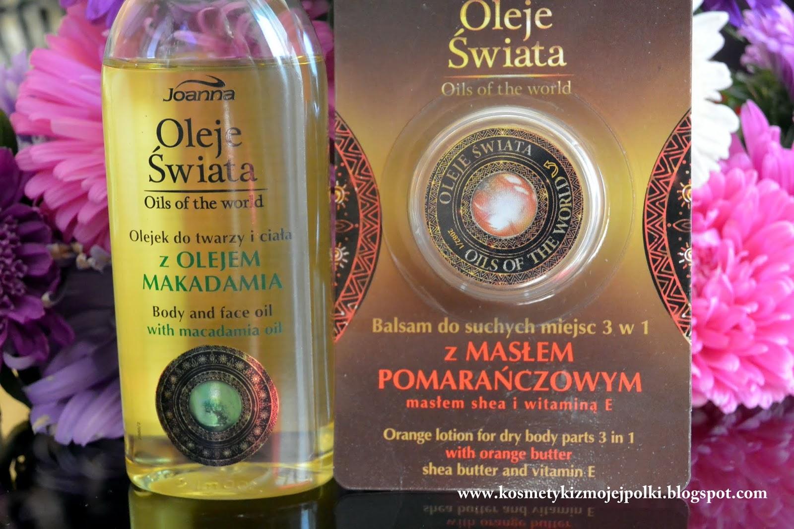 """""""Oils of the world"""" wg naszej rodzimej marki Joanna"""