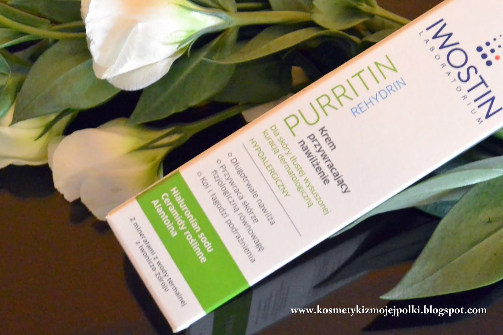 LABORATORIUM IWOSTIN PURRITIN REHYDRIN – Krem przywracający nawilżenie dla skóry tłustej wysuszonej kuracją dermatologiczną