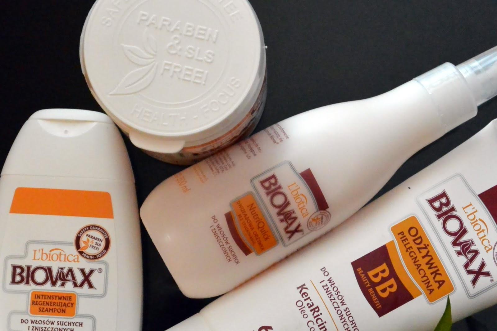 Intensywnie regenerująca linia do pielęgnacji włosów suchych i zniszczonych / L'Biotica BIOVAX