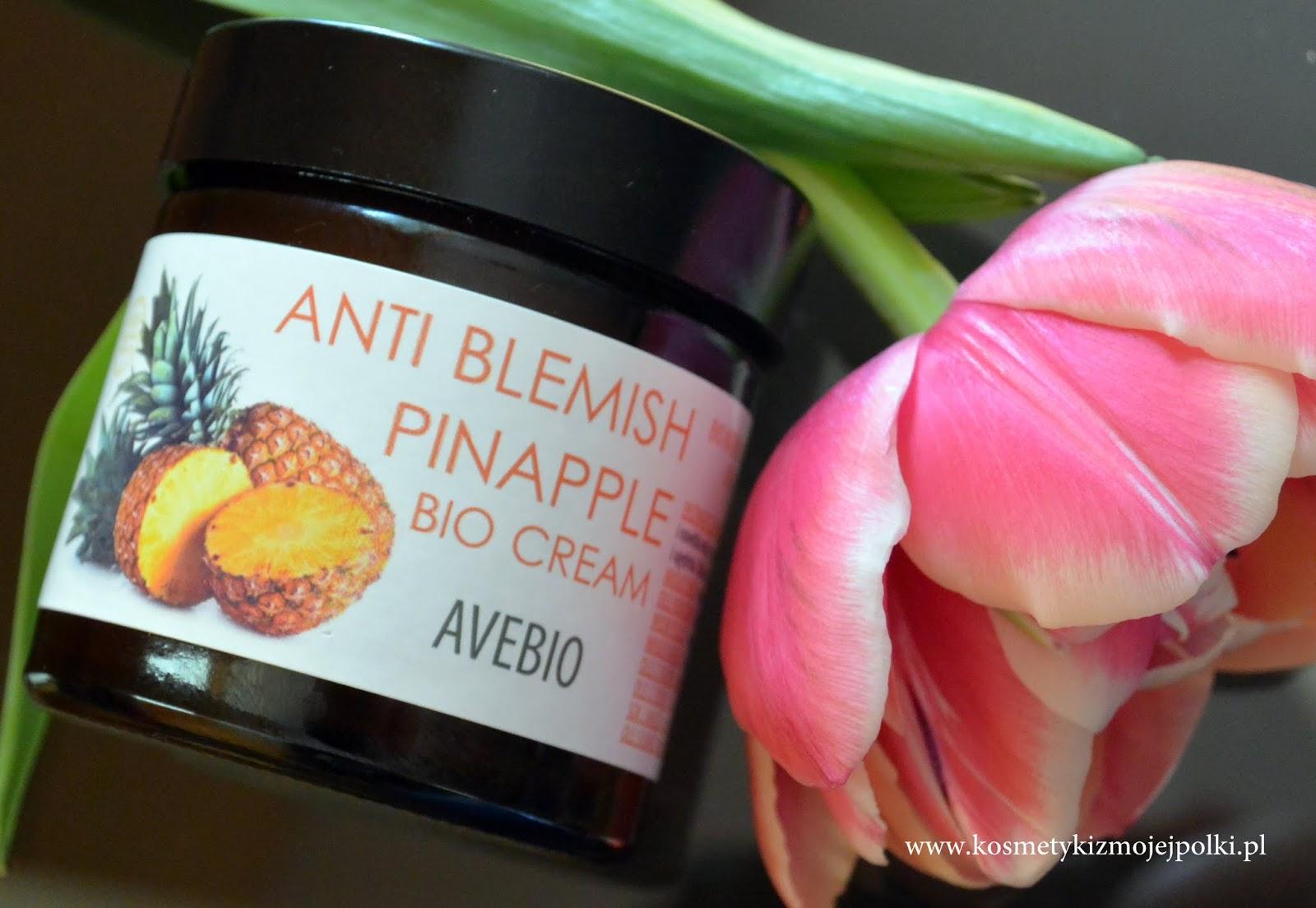 BIO krem do twarzy z ekstraktem z ananasa / AVEBIO Manufaktura Kosmetyki Naturalnej