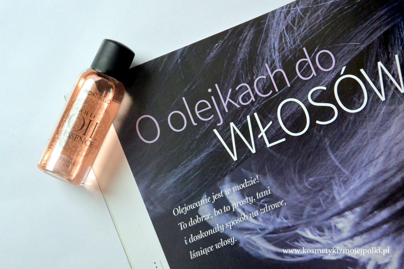 Olejowanie włosów | Olejek Tsubaki GOLD OIL ESSENCE MONTIBELLO