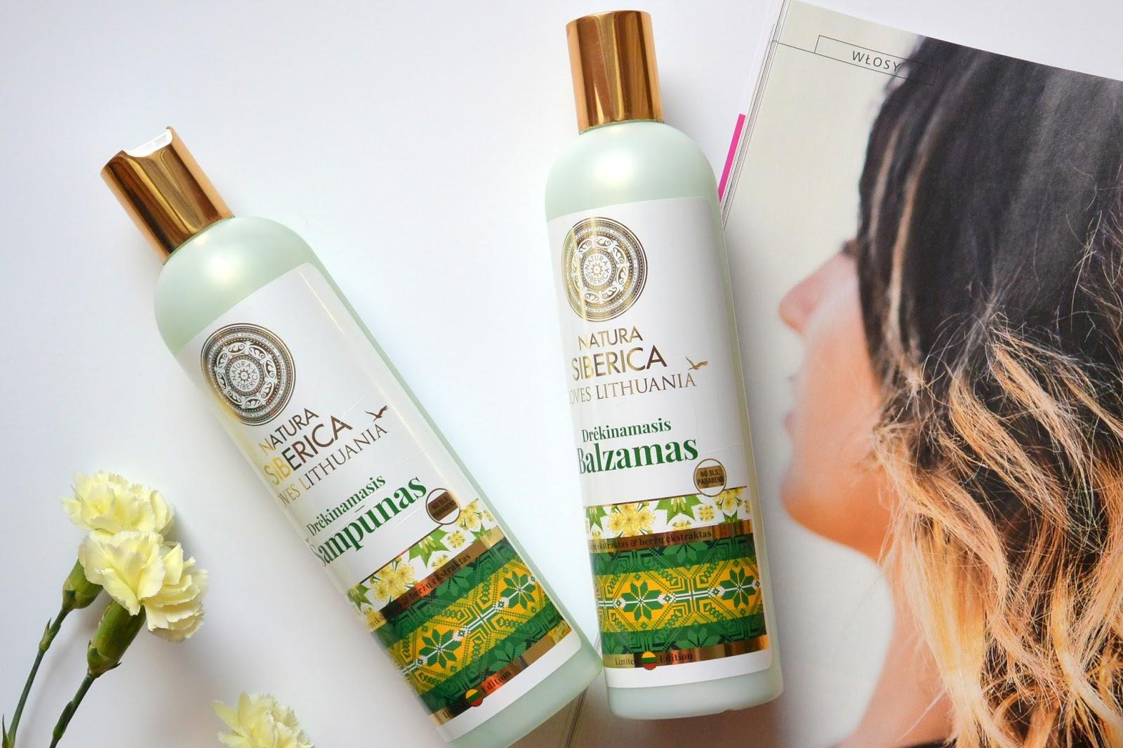 Nawilżający szampon i balsam do włosów Loves Lithuania | Natura Siberica