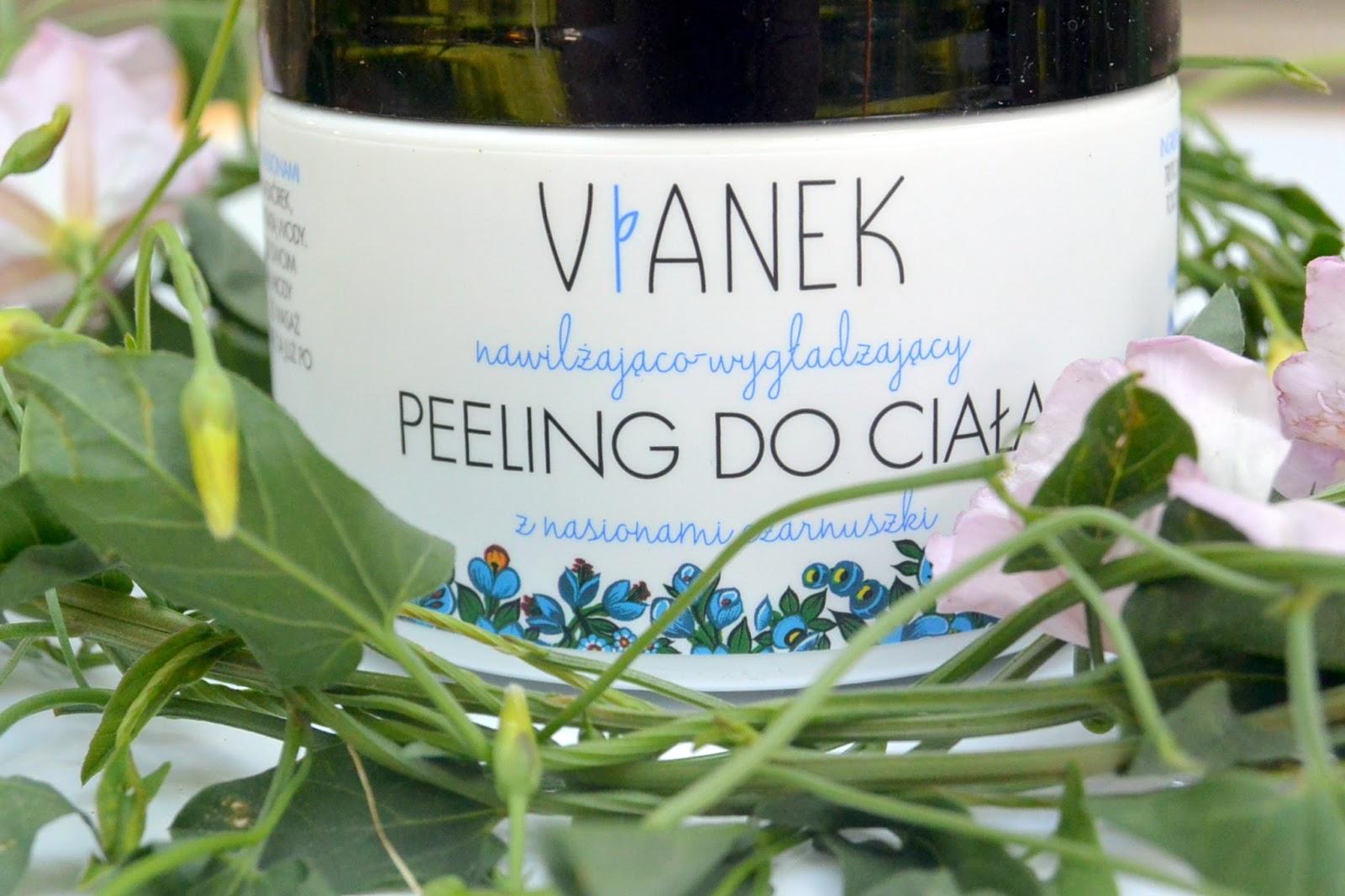 Upleciony z polskich kwiatów i ziół VIANEK | Nawilżająco – wygładzający peeling do ciała