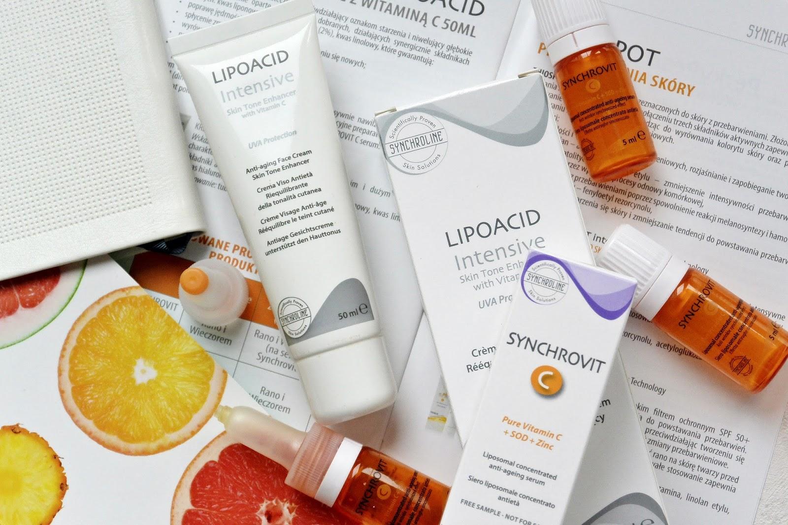 Wiosenne przebudzenie skóry | Serum Synchrovit C | Krem Lipoacid Intense | SYNCHROLINE
